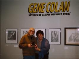 Gene & Adrienne w/ Charles Schulz Award Comic Art