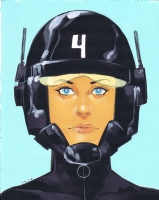 Jet 4 by Phil Noto (fine art) Comic Art