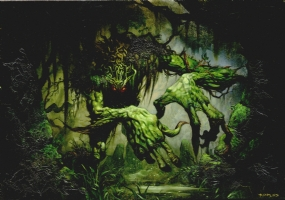 Magic Gathering Art Swamp Beast Thing Comic Art