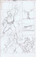 Gil Kane rough 2 Comic Art