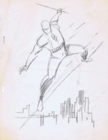 Kirby Daredevil Rough, Comic Art