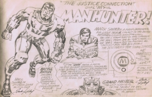 Kirby Manhunter Pitch, Comic Art