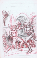 Ross Andru Wonder Woman Cover Rough Comic Art