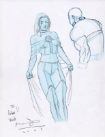 White Queen Sketch by Ariel Olivetti Comic Art