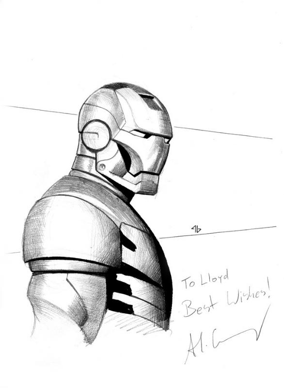 Iron Man Comic Original Adi Granov Iron Man Comic Art