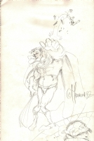 joe madureira superman vs thing Comic Art