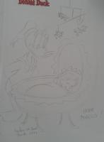 donald and baby Comic Art