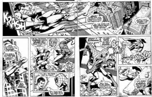 Superman meets Spiderman crossover Comic Art