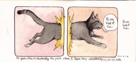 It Will All Hurt - Go, Gri Gato Comic Art