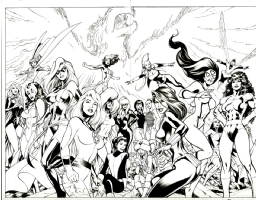 Women of Marvel: Celebrating Seven Decades Cover Art by Alan Davis (Marvel 2010) Comic Art