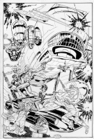 John Byrne S.H.I.E.L.D. Helicarrier Commission (20  x 30 ) Comic Art