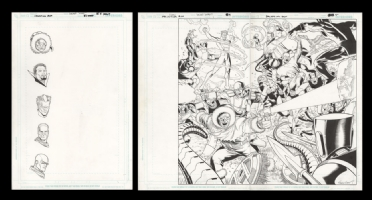 Salvation Run #1 Double Page Splash Pgs. 4-5 by Sean Chen and Walden Wong, Comic Art