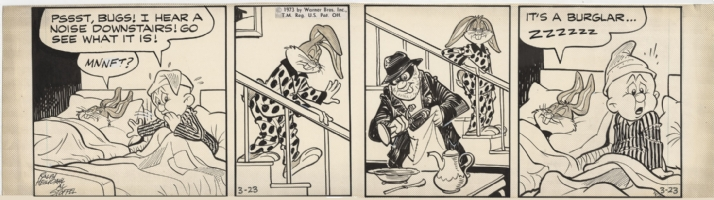 Heimdahl and Stoffel's Bugs Bunny Daily Strip, Comic Art
