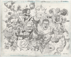 Green Lantern Annual 2012 # 2, Double Page Splash by Sean Chen, Comic Art