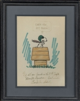 Snoopy Drawing by Peanuts creator Charles Schulz, Comic Art