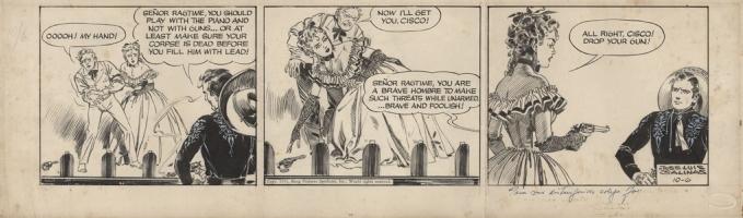 Cisco Kid Strip by Jose Luis Salinas 1951, Comic Art
