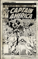 Captain America #268 Cover by Zeck and Beatty, Comic Art