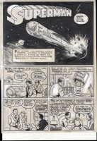 Superman #1 Famous First Edition V8#C-61 Pg. 1 by Albert DeGuzman, Comic Art