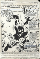 Black Panther #13 Splash Pg. 1 by Jerry Bingham and Gene Day, Comic Art