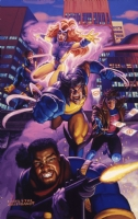 Brothers Hildebrandt X-Men Poster Painting, Comic Art