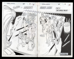 Barbie Fashion #45 Double Page Splash Pgs 12-13 by Win Mortimer, Comic Art