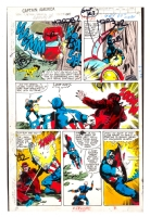 Captain America #247 Color Guide page by George Roussos, Comic Art