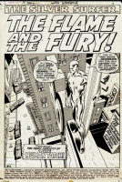 Silver Surfer #15 Splash page, Pg. 1 Comic Art