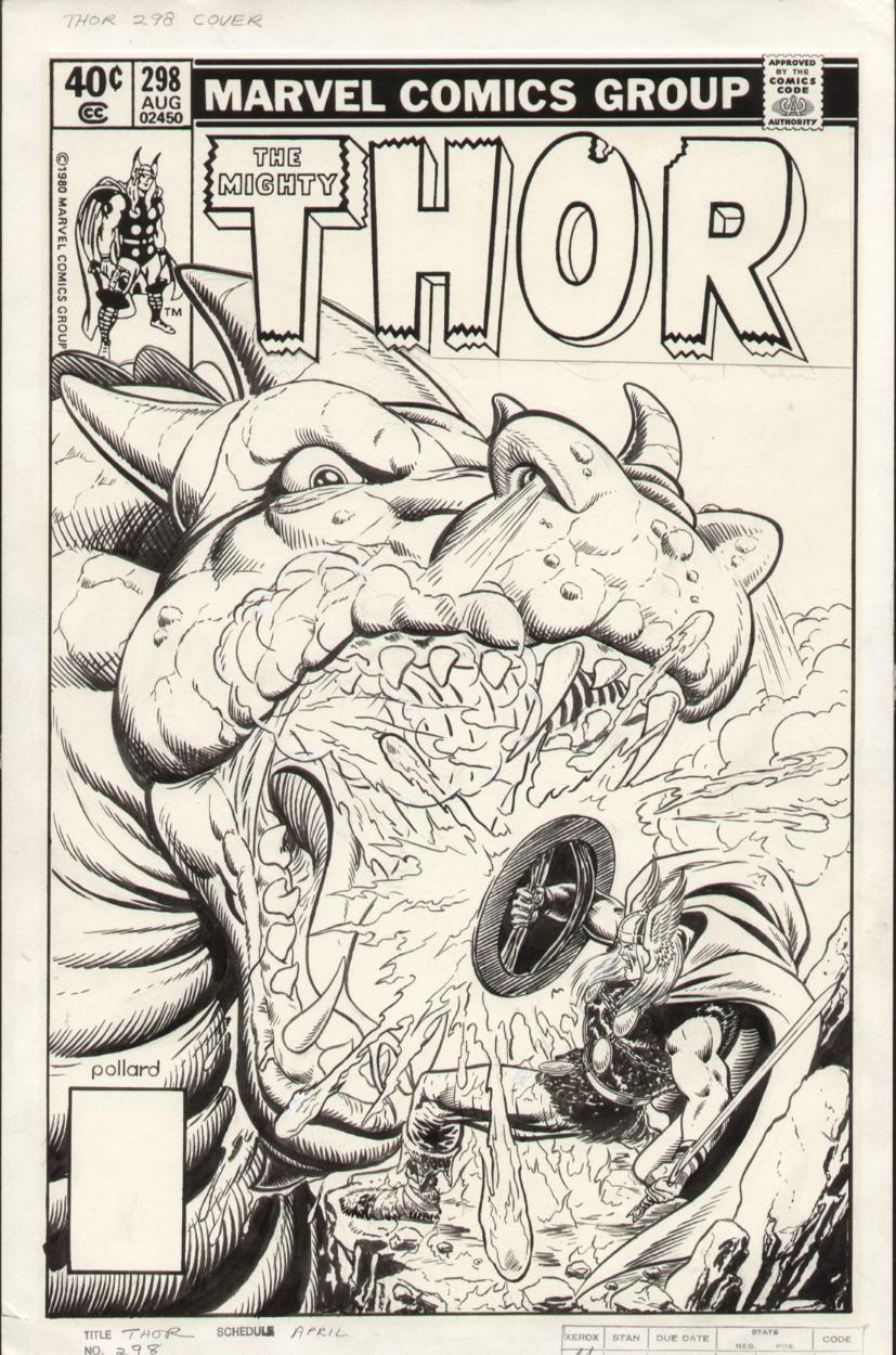 Thor #298 Cover Comic Art