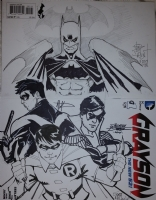 Grayson #1 Sketch Cover Jam, Comic Art