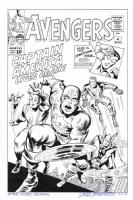 Return of Captain America! AVENGERS #4 Cover Art RECREATION! ! Sold Comic Art