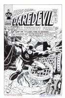 DAREDEVIL #13 Cover RECREATION (Kirby/Romita) - Hazlewood 200.00 Comic Art