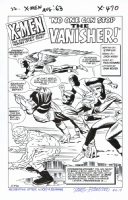 X-MEN #2 (Vol 1) Title Splash RECREATION - Hazlewood  SOLD Comic Art
