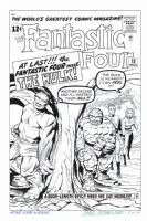 FANTASTIC FOUR #12 Cover Art RECREATION The Hulk! - Hazlewood 180.00 Comic Art