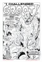 TALES TO ASTONISH #13 Splash RECREATION - 1st GROOT App! Hazlewood SOLD Comic Art