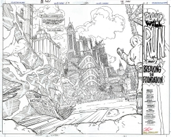 FLASH #170 Pg 1 & 2 Double-Page Spread Comic Art