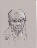 Sgt Rock close-up Comic Art