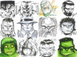 Hulk Head Jam - Wizard World Philadelphia 2012 Comic Art