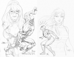 Spider-Man Jam by Terry Dodson, Mike Deodato Jr., Frank Cho and Michael Turner Comic Art