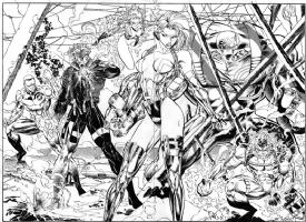 WildCATS #19, pgs. 19-20 DPS: Stormwatch by Jim Lee and Richard Bennett Comic Art