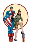Captain America/Lt. Cindy Glass by Kevin Maguire; Revised Colors by Tom Smith Comic Art