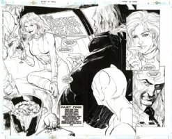 Birds of Prey #22 pgs. 2-3 DPS by Butch Guice and Bill Sienkiewicz Comic Art