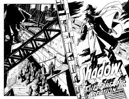 The Shadow #1 pg 06 & 07, Comic Art