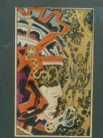 Jack Kirby Tribes Colour peice Comic Art