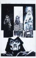 Doom Returns  #1 Page 23 Original Art Dr Doom By Leonardo Manco Comic Art