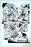 Team X / Team 7 One Shot Page 34 Original Art Sabretooth Grifter Deathblow & Maverick By Steve Epting Comic Art