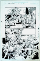 Team X / Team 7 One Shot Page 37 Original Art Omega Red & Deathblow By Steve Epting Comic Art