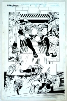 Team X / Team 7 One Shot Page 15 Original Art Wolverine Maverick & Omega Red By Steve Epting Comic Art