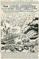 Devil Dinosaur 7 Title Splash - Jack Kirby Comic Art