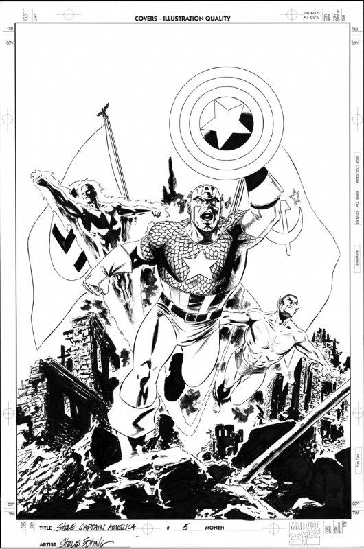 Captain America #5 Cover by Steve Epting Comic Art