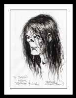 Frankenstein Headsketch Comic Art